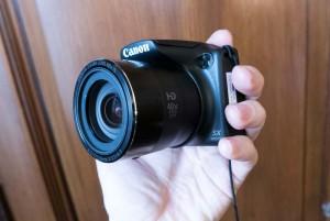 Canon PowerShot SX410 di lato
